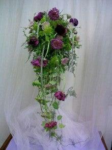 ノーブルフラワーデザインスクールのブログ-NFD1級ながれるような花嫁の花束