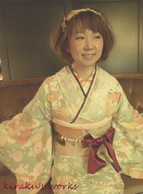 着物でお出かけ 大田区蒲田/着物着付けとレッスンのサロン『きらく』