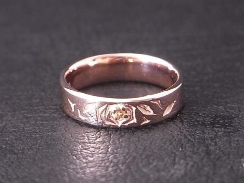 ハンドメイド・シルバーアクセサリー&革製品grandgalleria-バラ,ピンクゴールド,指輪