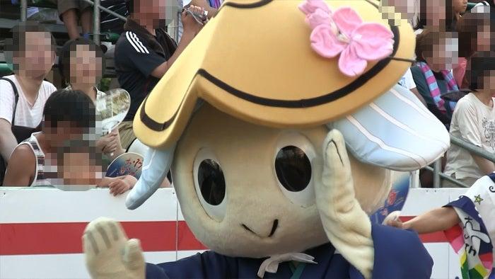 ののちゃんブログ-阿波踊り 徳島市のマスコット トクシィちゃん踊る