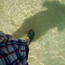 足だけ海水浴(≧∇≦…