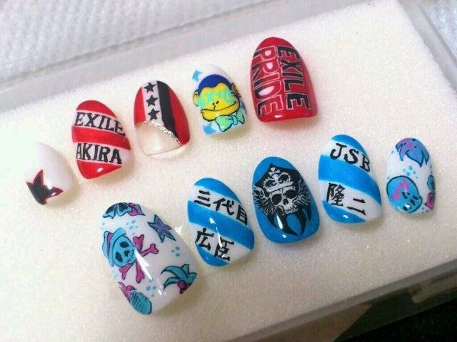 ☆EXILE ネイル やり方~ロゴ復習編~☆|~都島区・京橋nail salon Brise blog~