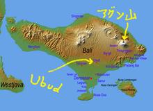 夫婦世界旅行-妻編-ウブドゥ地図