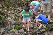 浄土宗災害復興福島事務所のブログ-20130727ふくスマおてつぎ沢遊び01