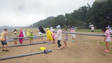 浄土宗災害復興福島事務所のブログ-20130729ふくスマいかだ作り03