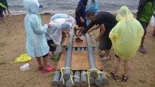 浄土宗災害復興福島事務所のブログ-20130729ふくスマいかだ作り05