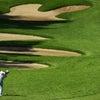ゴルフトーナメントの観戦の画像