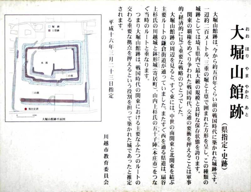 大堀山城/説明板