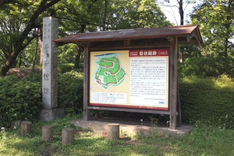 菅谷館/城址碑と説明板