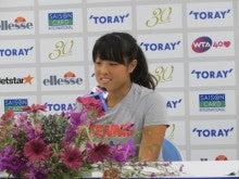 森田あゆみオフィシャルブログ「Ayumi's Voice」Powered by Ameba-東レPPOシングルス1Rポストマッチインタビュー2