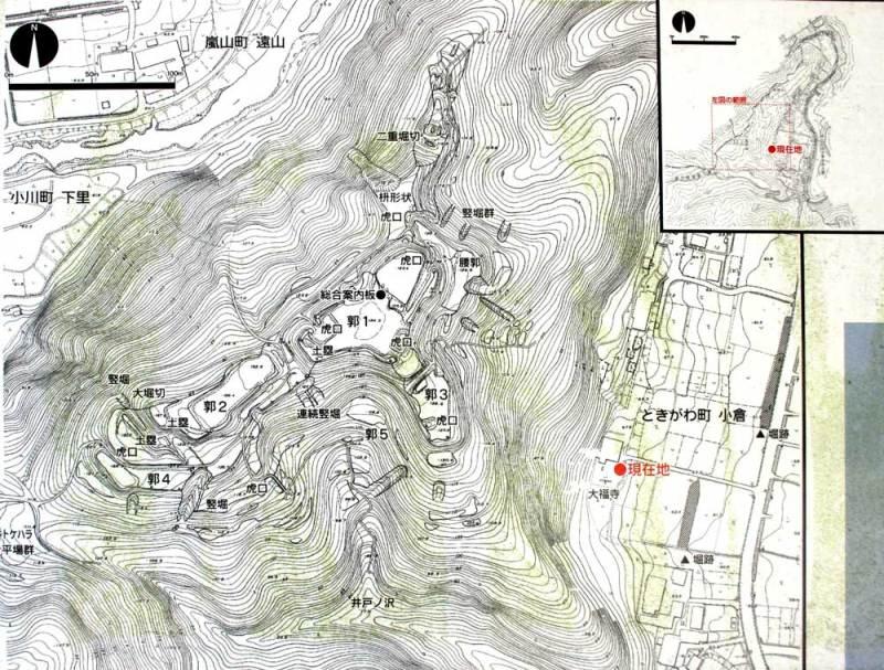 小倉城/実測縄張図