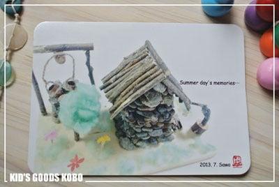 子供の絵を永遠の想い出として残しませんか?-子供の作品 マウスパッド