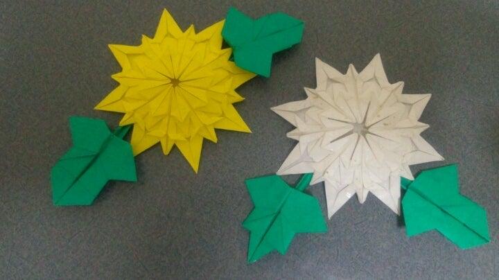 クリスマス 折り紙 : 折り紙 菊の花 : ameblo.jp