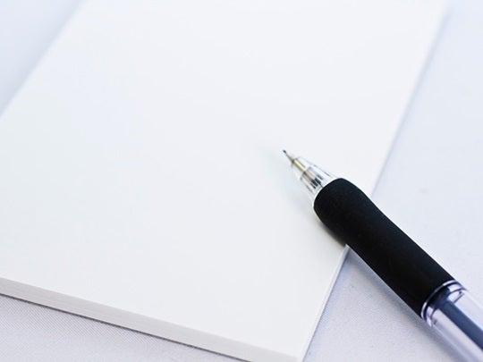 $やさしいアメブロカスタマイズ!と女性タレント画像-紙とペン 540x