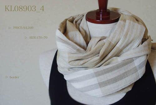*カンボジアの綿クロマーと赤ちゃん帽子のお店*-天然草木染め100%ショール/ストール