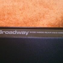 Broadway ルームミラーの話の記事に添付されている画像