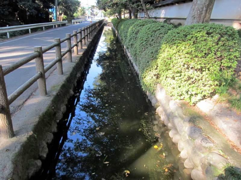 中条氏館/常光院前の水路