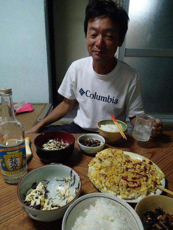歩き人ふみの徒歩世界旅行 日本・台湾編-夕食