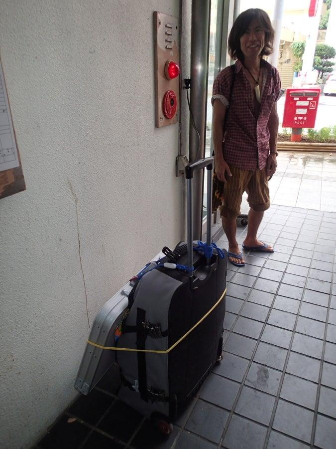 歩き人ふみの徒歩世界旅行 日本・台湾編-おがわ君と荷物