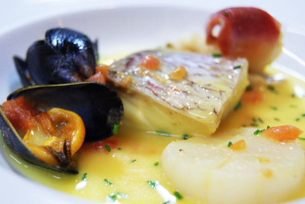 真鯛と貝類のマリニエール