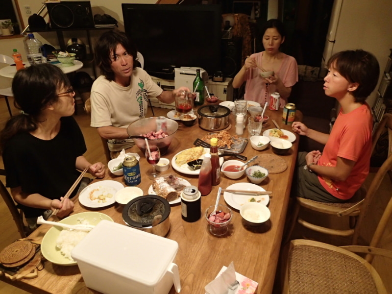 歩き人ふみの徒歩世界旅行 日本・台湾編-晩餐