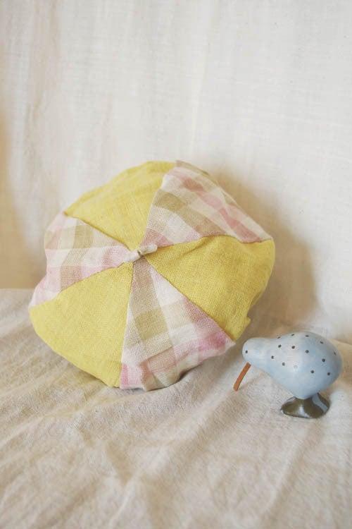 *カンボジアの綿クロマーと赤ちゃん帽子のお店*-子供用お帽子ムオ 綿100%