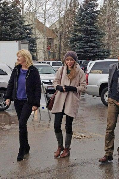 Taylor Swiftの冬ファッション~♪