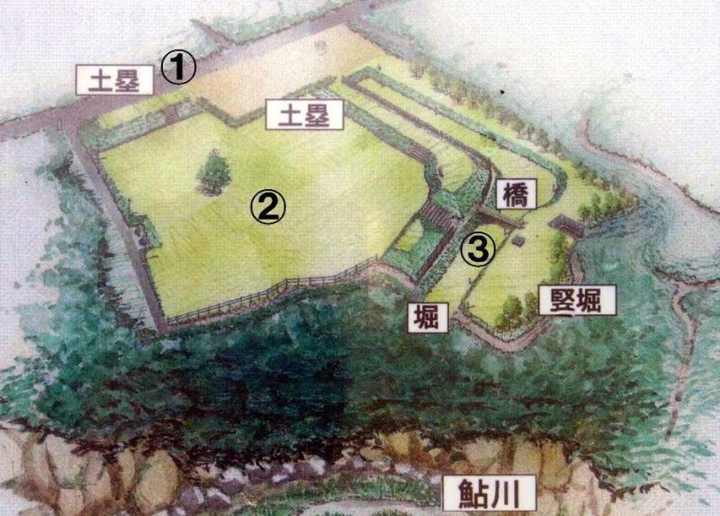 平井城/鳥瞰図