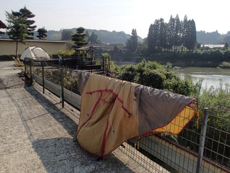 歩き人ふみの徒歩世界旅行 日本・台湾編-テント干し