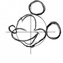 東京ディズニーランドミッキーマウスの描き方を学べる