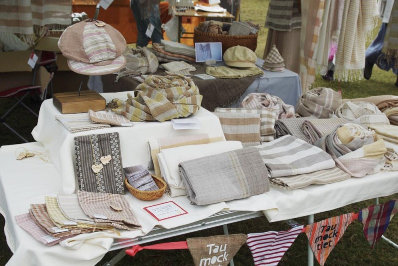 *カンボジアの綿クロマーと赤ちゃん帽子のお店*-ロハスフェスタ 素敵なストール
