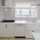 ホワイトカラーのオーダーキッチン ①の記事より