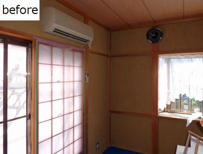 子供部屋も白い塗り壁で明るくなった堺市にて 体に優しく