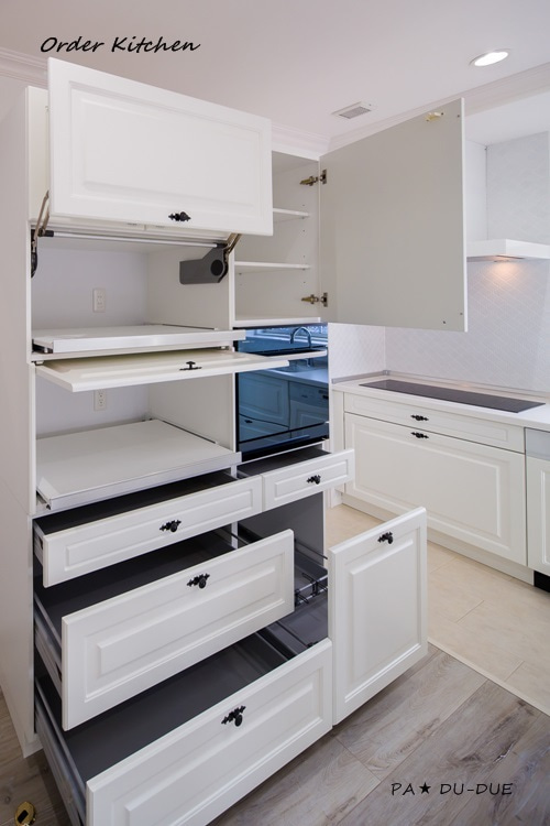 名古屋・一宮のキッチンスペースプランニング【PA★DU-DUE】のブログ-オーダーキッチン ホワイト 5
