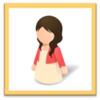 女性シルエット(20代~30代)