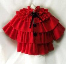 おしゃべりな子供服SHOP Kikinini赤フリースフリルコート