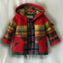 おしゃべりな子供服SHOP Kikinini チェックネルキルティングコート