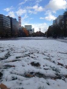 Kids Port のブログ-初雪大通り公園