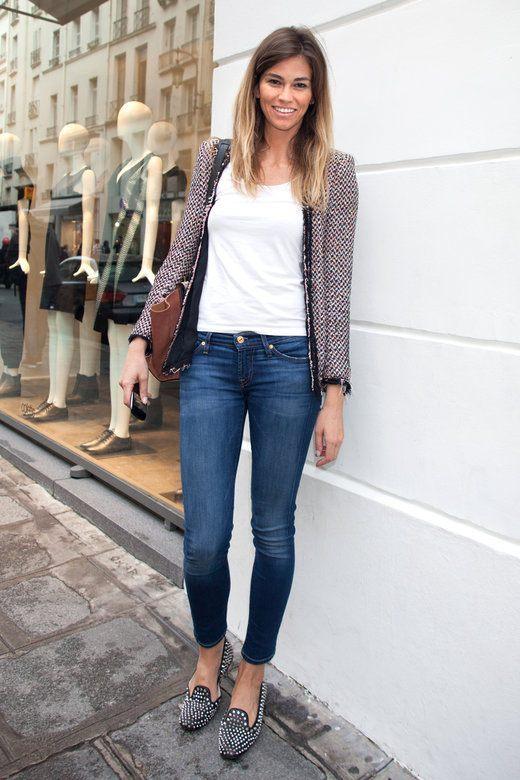 Pariスナップ・ツィードジャケットコーデ|パリジェンヌ シンプルファッション・好きな服だけのワードローブとおしゃれのコツ