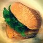 バーガーと炭酸