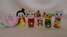 $Handmade glove  puppet          フェルトで指人形-桃太郎指人形