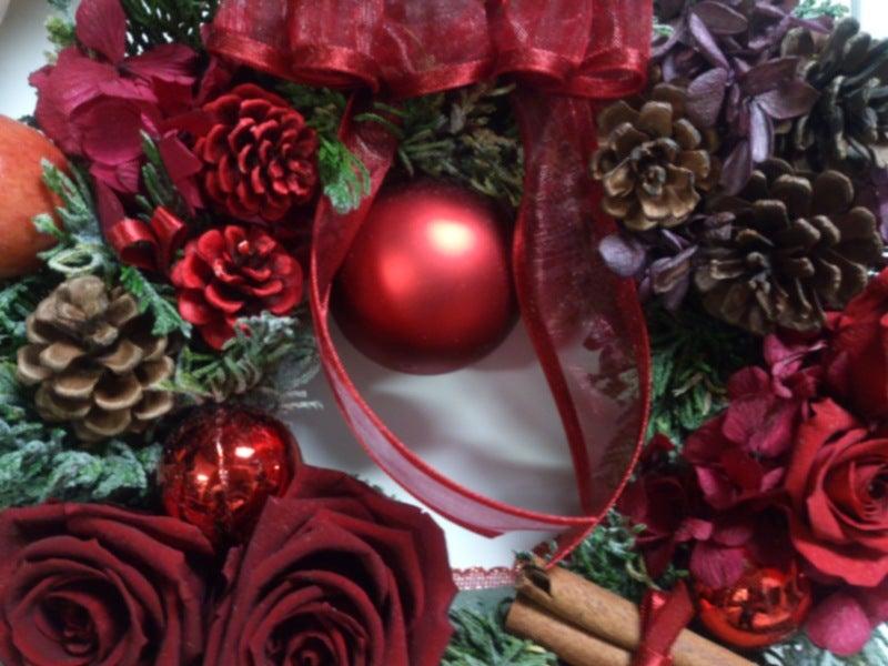 フラワーリーグオフィシャルブログ-12月河津 クリスマスリース