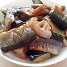 揚げさんまの生姜黒酢…