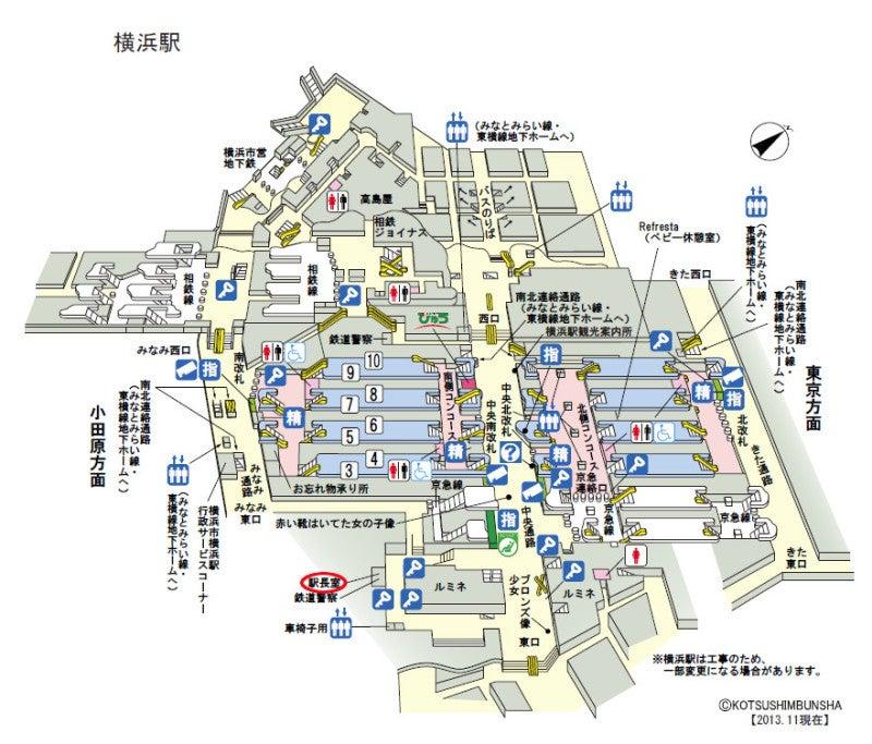 横浜駅構内図