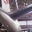 飛行機整備場見学