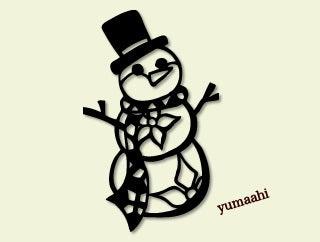 フリー素材 雪だるま を追加しました 切り絵 ときたま日記