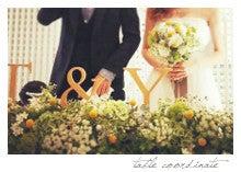 nico◡̈*blog 手作り結婚式-テーブルコーディネート