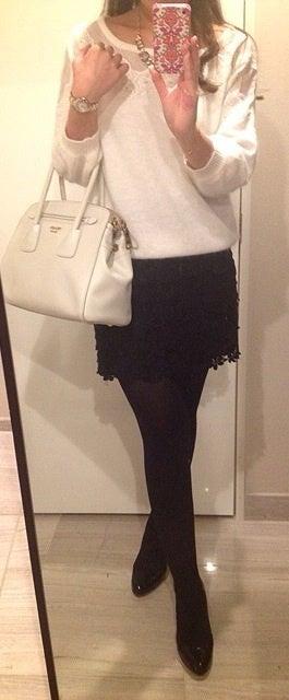 冬のホワイトコーディネート♡|AneCanファッションコーデ 東京独身OLブログ