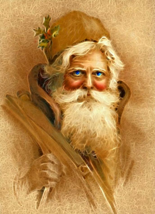 Tricolor Language-Old Santa Claus