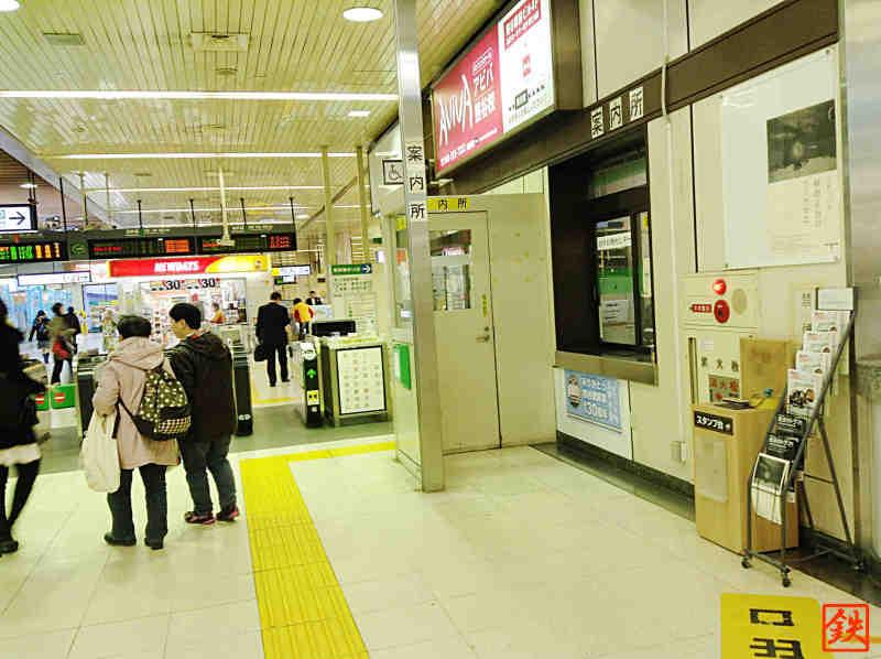 熊谷駅スタンプ台設置場所